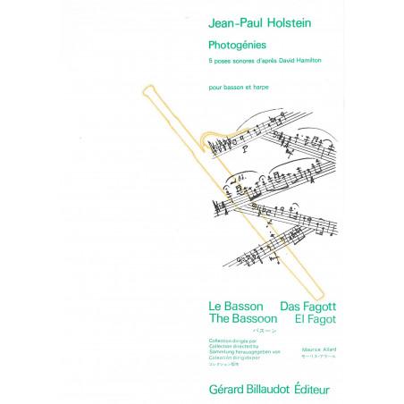 Holstein Jean Paul - Photogénies (basson & harpe)