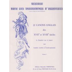 Divers Auteurs - 22 canons anglais des XVII & XVIII siècles vol.1