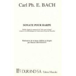 Bach Carl Philipp Emmanuel - Sonate pour harpe (M. Grandjany)