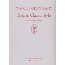 Grandjany Marcel - Aria in classic style (harpe & orgue)