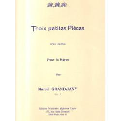 Grandjany Marcel - Trois petites pièces très faciles pour la harpe Op.7