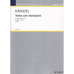Haendel Georg Friedrich - Thème & variations (Tema con variazioni)